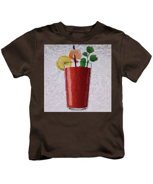 Bloody Mary Emoji Kids T-Shirt by  Judy Bernier