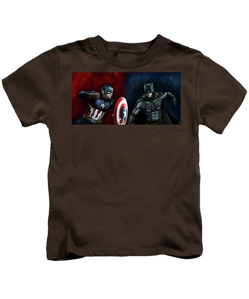 Captain America Vs Batman Kids T-Shirt
