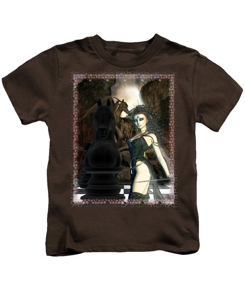 Chess 3d Fantasy Art Kids T-Shirt by Sharon and Renee Lozen