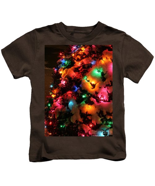 Christmas Lights Coldplay Kids T-Shirt by Wayne Moran