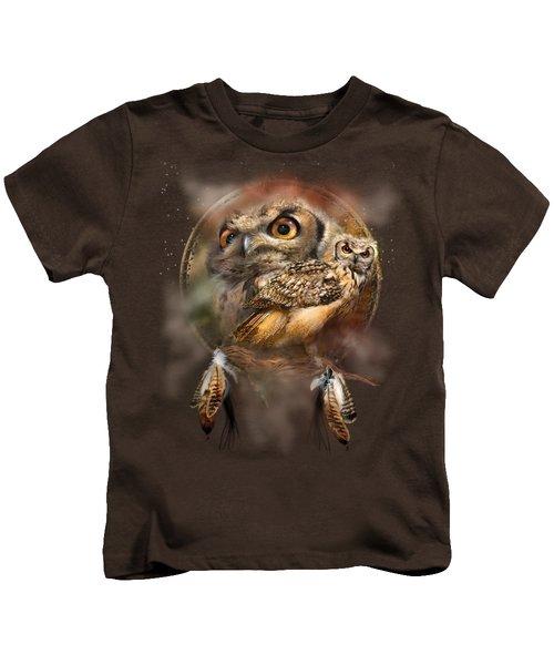 Dream Catcher - Spirit Of The Owl Kids T-Shirt