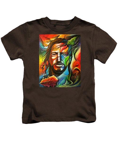 Eddie Vedder Kids T-Shirt by Robert Stokley