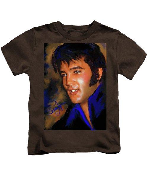Elvis Presley Art 17 Kids T-Shirt