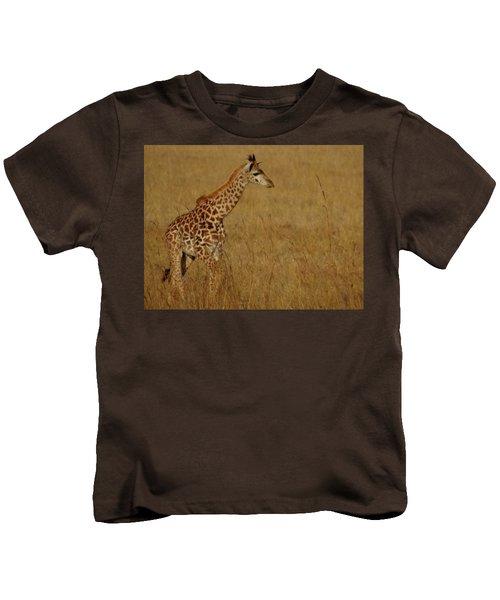 Giraffes On A Walk 2 Kids T-Shirt