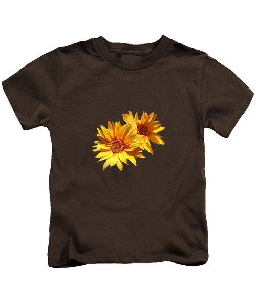 Golden Sunflowers Kids T-Shirt