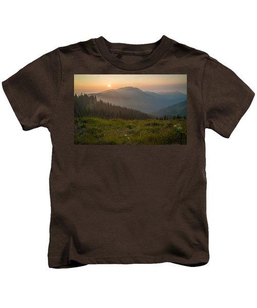 Goodnight Mountains Kids T-Shirt