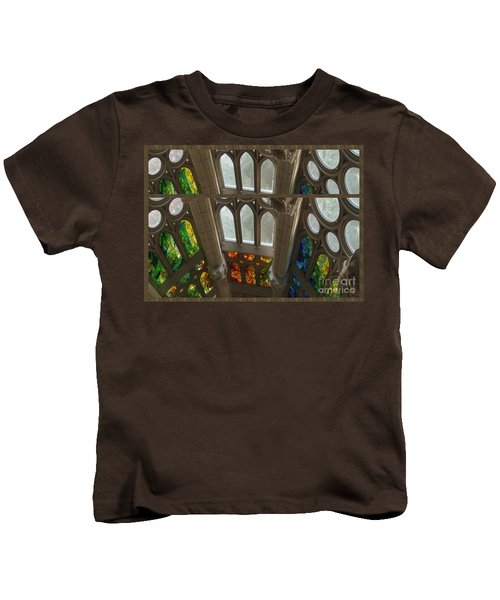 Graphic Art From Photo Library Of Photographic Collection Of Christian Churches Temples Of Place Of  Kids T-Shirt by Navin Joshi