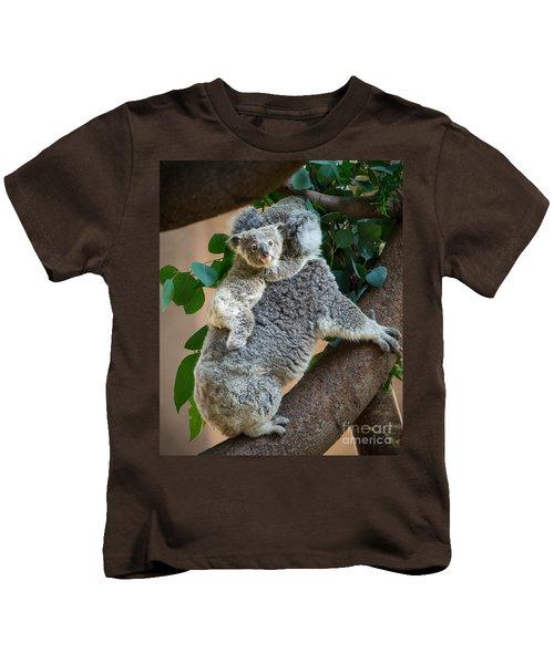 Hanging On Kids T-Shirt by Jamie Pham