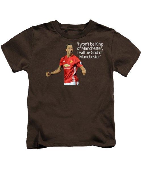 Ibrahimovic Kids T-Shirt by Vincenzo Basile
