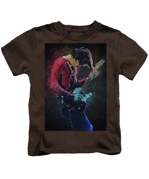 Jonny Greenwood Kids T-Shirt by Semih Yurdabak