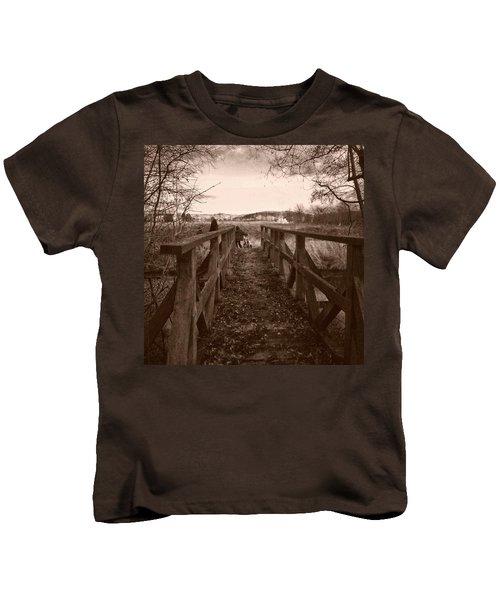 #landscape #bridge #family #tree Kids T-Shirt