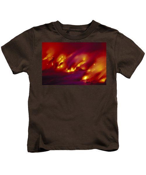 Lava Up Close Kids T-Shirt by Ron Dahlquist - Printscapes