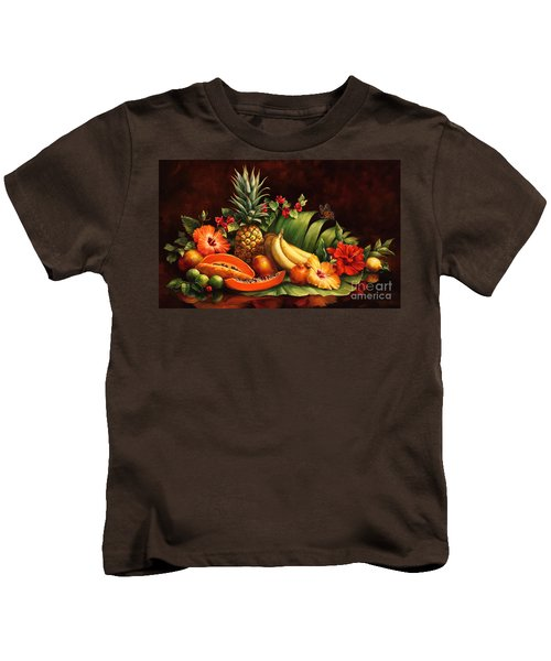 Lots Of Fruit Kids T-Shirt by Laurie Hein