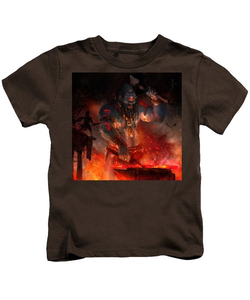 Maker Of The World Kids T-Shirt by Ryan Barger