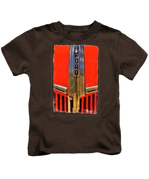 Manzanar Fire Truck Hood And Grill Detail Kids T-Shirt by Roger Passman