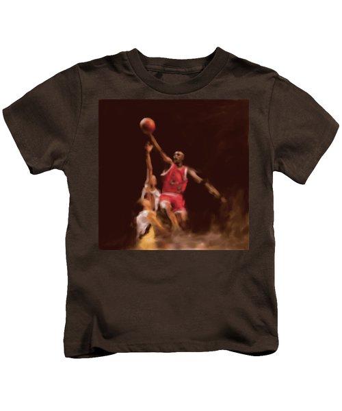 Michael Jordan 548 2 Kids T-Shirt by Mawra Tahreem