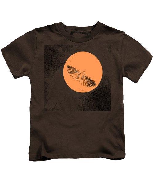 Moth In Orange Kids T-Shirt by Sverre Andreas Fekjan