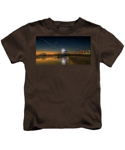 Night At The Pier Kids T-Shirt