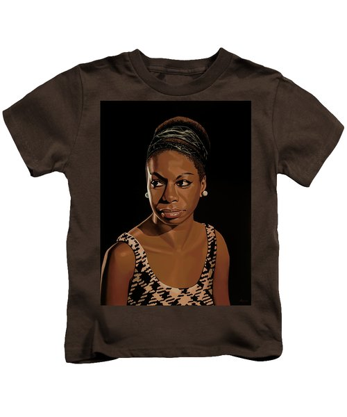 Nina Simone Painting 2 Kids T-Shirt