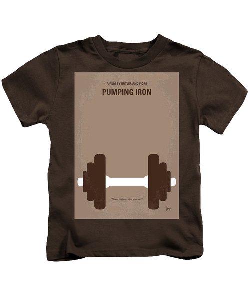 No707 My Pumping Iron Minimal Movie Poster Kids T-Shirt by Chungkong Art