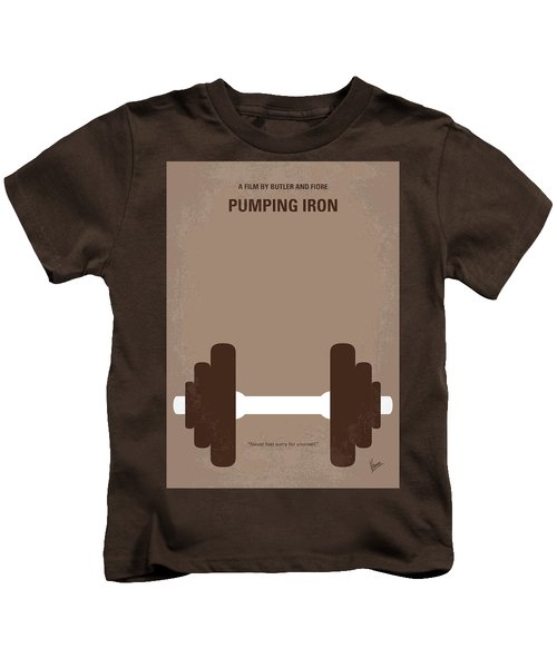 No707 My Pumping Iron Minimal Movie Poster Kids T-Shirt