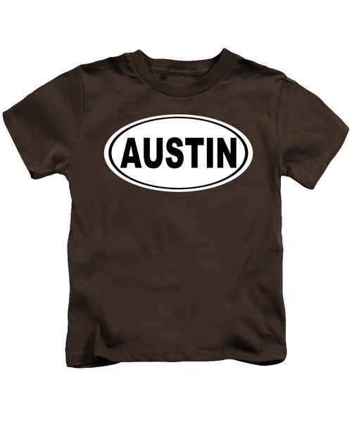 Oval Austin Texas Home Pride Kids T-Shirt