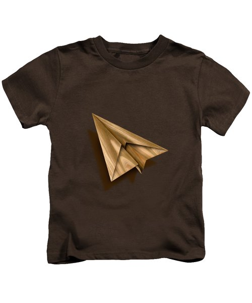 Paper Airplanes Of Wood 1 Kids T-Shirt by YoPedro