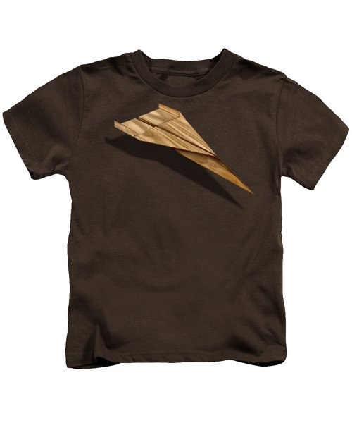 Paper Airplanes Of Wood 3 Kids T-Shirt by YoPedro