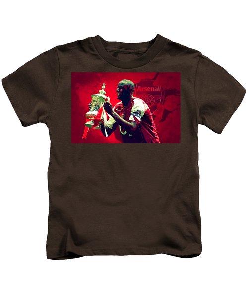 Patrick Vieira Kids T-Shirt by Semih Yurdabak