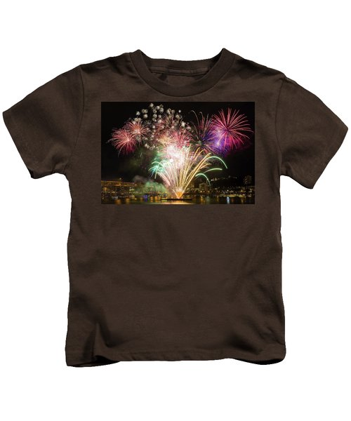 Portland Waterfront 4th Of July Fireworks Kids T-Shirt