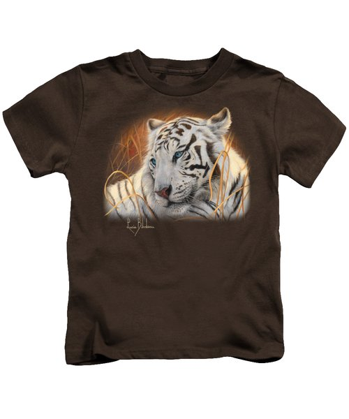 Portrait White Tiger 1 Kids T-Shirt
