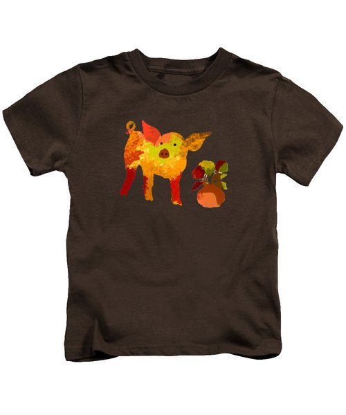 Pretty Pig Kids T-Shirt by Holly McGee