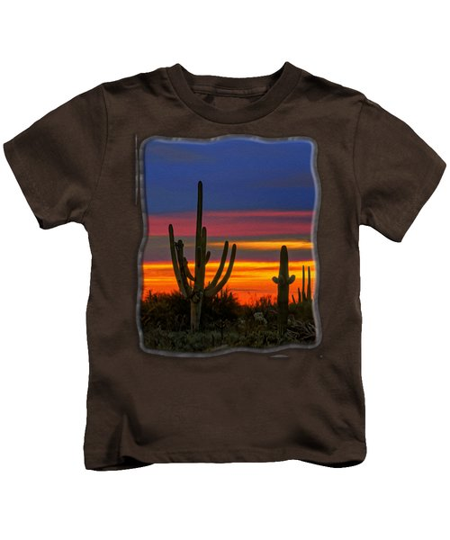 Saguaro Sunset V31 Kids T-Shirt