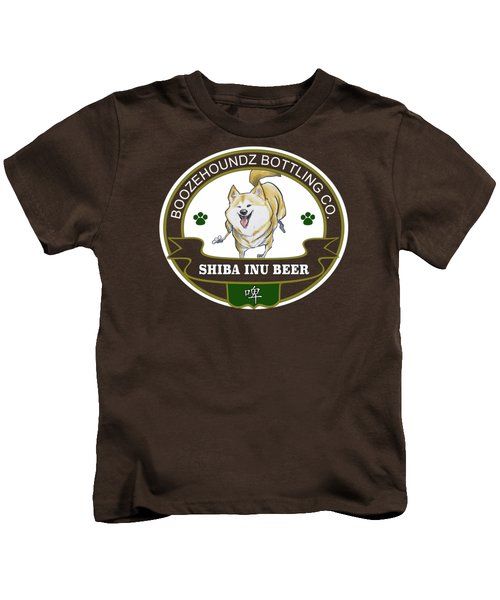 Shiba Inu Beer Kids T-Shirt