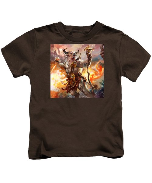 Spiritcaller Shaman Kids T-Shirt by Ryan Barger