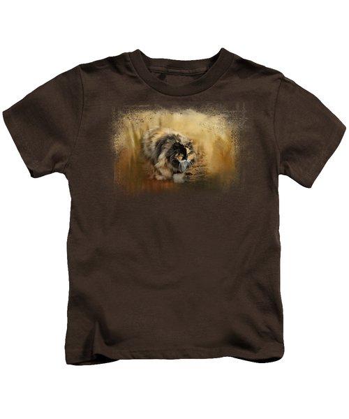 Stalking Autumn Kids T-Shirt by Jai Johnson