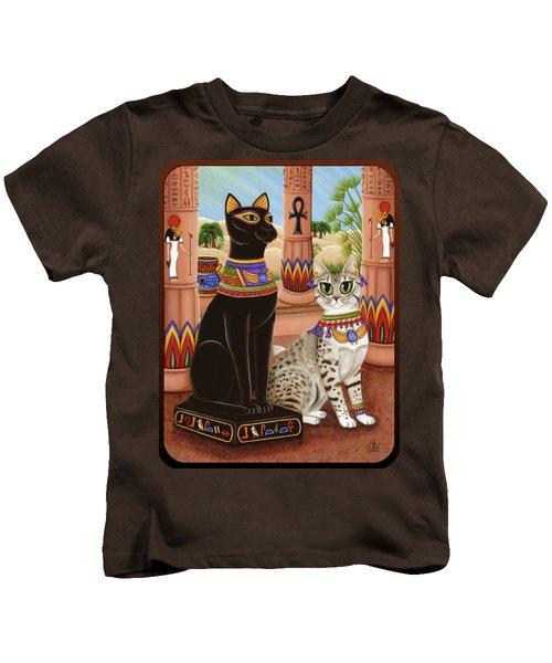 Temple Of Bastet - Bast Goddess Cat Kids T-Shirt
