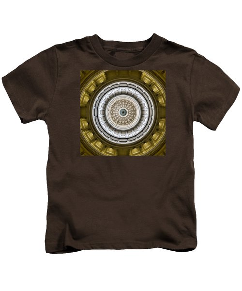 Texas Capitol Dome Kids T-Shirt