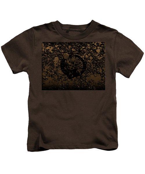 The Boston Celtics 1f Kids T-Shirt by Brian Reaves