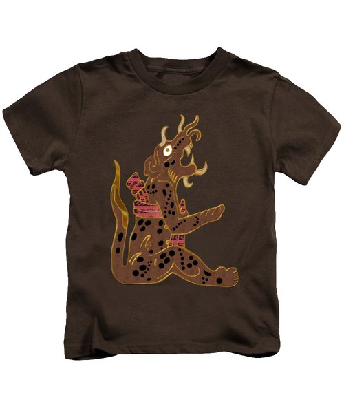 The Leopard Man Mayan Kids T-Shirt by Sharon and Renee Lozen