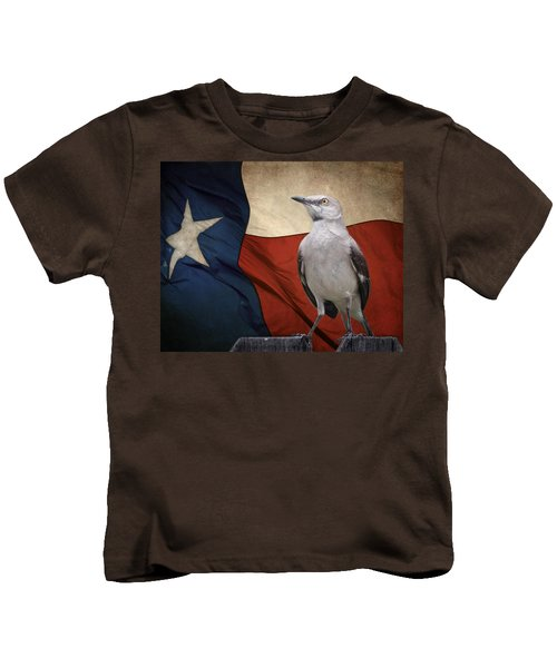 The State Bird Of Texas Kids T-Shirt by David and Carol Kelly