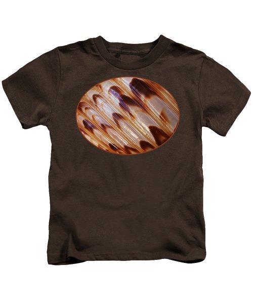 Triton Seashell Abstract Kids T-Shirt by Gill Billington