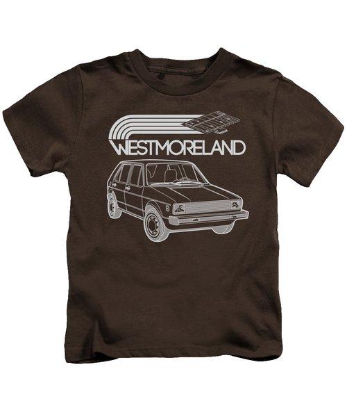 Vw Rabbit - Westmoreland Theme - Gray Kids T-Shirt by Ed Jackson