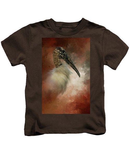 Wood Portrait  Kids T-Shirt