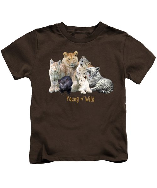 Young And Wild Kids T-Shirt by Carol Cavalaris