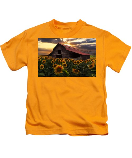 Sunflower Farm Kids T-Shirt