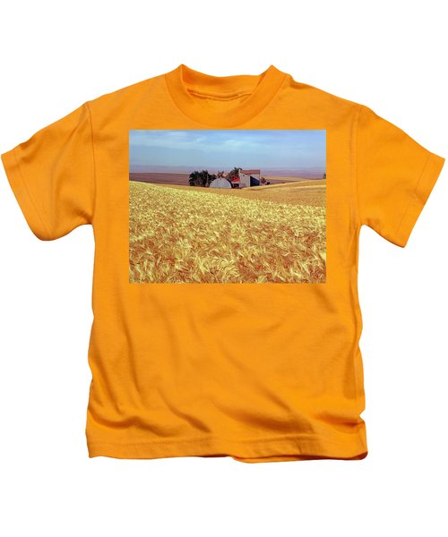 Amber Waves Of Grain Kids T-Shirt