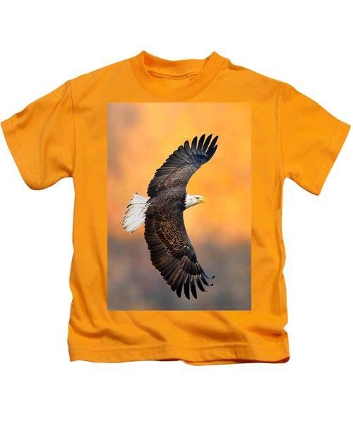 Kids T-Shirt featuring the photograph Autumn Eagle by William Jobes
