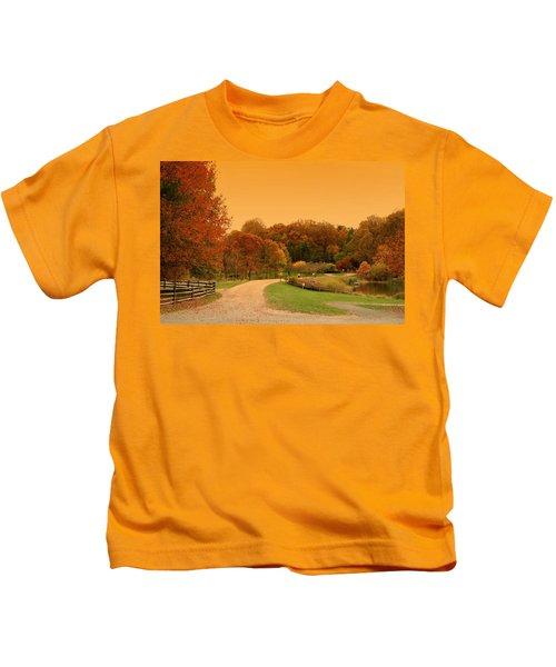 Autumn In The Park - Holmdel Park Kids T-Shirt
