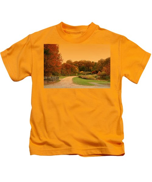 Autumn In The Park - Holmdel Park Kids T-Shirt